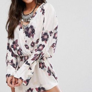 Free People Tuscan Dreams Floral Tunic Dress M